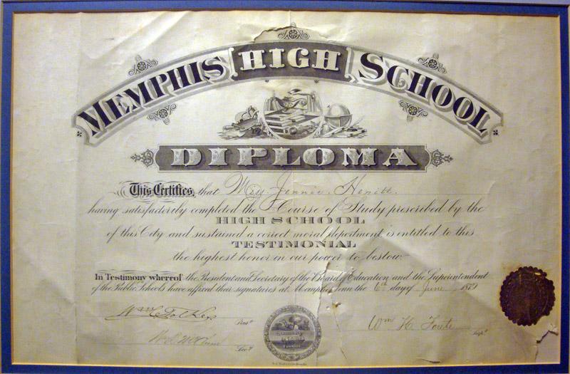 memphis high school- the high school 1878-1910